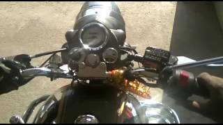 7. Royal Enfield chrome Stock exhaust