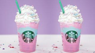 DIY Starbucks Unicorn Frappuccino   Eat the Trend by POPSUGAR Food