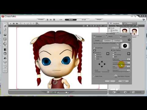 CrazyTalk6 Tutorial – Custom Facial Features: Eyes