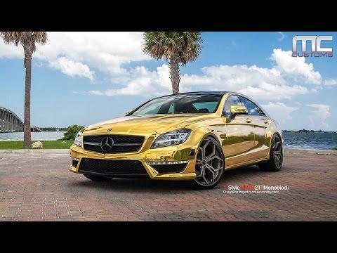 MC Customs | Gold Mercedes-Benz CLS63 · Vellano Wheels