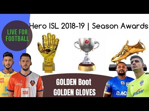 ISL Awards 2018-19 | Golden Boot | Gloves | Emerging Player Awards
