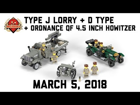 Type J Lorry, Ordnance QF 4.5-inch Howitzer & D-Type - Custom Military Lego