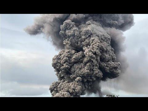 العرب اليوم - شاهد: إنذار من غاز سام جراء بركان كيلاويا في هاواي