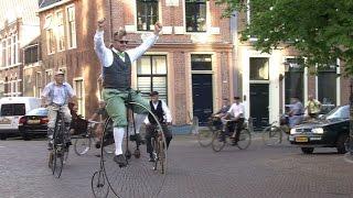 Simon Groen fietst historische tocht op Hoge Bi opnieuw