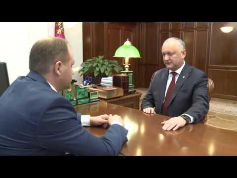 Президент провел встречу с мэром муниципия Кишинев
