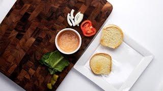 Cheese-Stuffed Mushroom Burger
