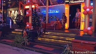 Pattaya Land&Boyz Town Nightlife On Christmas Eve Dec 25 Happy New Year 2014