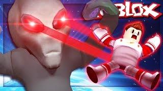 ESCAPE THE EVIL ALIEN IN SPACE! (Roblox Escape the Alien Obby)