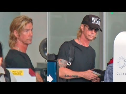 Guns N' Roses Bassist Duff McKagan Shows Support For Injured Veterans At LAX