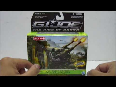GI Joe Rise of Cobra Jungle Terror Twin Battle Gun /& Range Viper BONUS