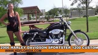 6. Used 2006 Harley Davidson Sportster 1200 Custom Motorcycles for sale