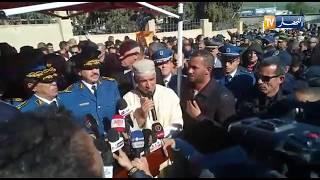 شاهد..خطبة الإمام خلال جنازة شهيد الواجب