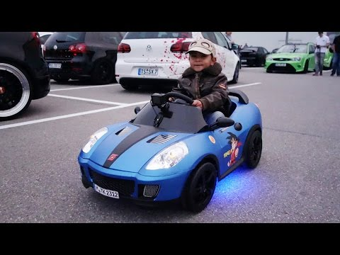 Souped-up Power Wheels Car