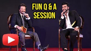 Mubarakan Sangeet Night: Arjun kapoor decided to have an impromptu Q&A session with his Chacha Anil, which entertained the audience the most. watch what they asked each other.Report By: Neha AntaniEdited By: Advait PansareCameraman: Deepak Prajapati.Subscribe now and watch for more of Bollywood Entertainment Videos at http://www.youtube.com/subscription_center?add_user=bollywoodnowRegular Facebook Updates https://www.facebook.com/bollywoodnow.  Twitter Updates https://twitter.com/bollywoodnow  Follow us on Pinterest: https://pinterest.com/bollywoodnow  Follow us on Google+ : https://plus.google.com/+bollywoodnow