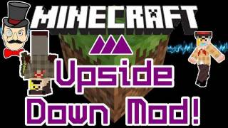 Minecraft Mods - UPSIDE DOWN Mod! Reverse Gravity with Snowballs !