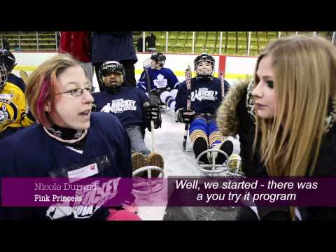 Avril Visits Easter Seals Sledge Hockey Program