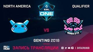 Blue Pikachu vs Minds Eye Gaming, ESL One Genting NA Qualifier, game 2 [Mila, Inmate]