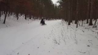 4. Punching it in a Ski Doo 550 GTX