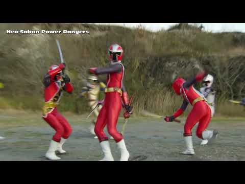 "Power Rangers Ninja Steel - 3 Red Rangers Final Morph And Battle | Episode 20 ""Galvanax Rises"""