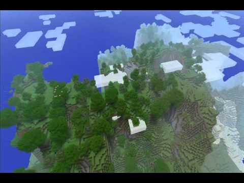 Minecraft seed showcase - incredible mountans (видео)