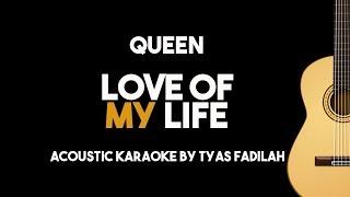 Video Queen - Love Of My Life (Acoustic Guitar Karaoke Backing Track with Lyrics) MP3, 3GP, MP4, WEBM, AVI, FLV Juli 2018