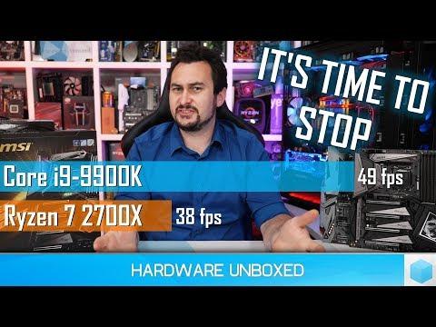 Победы недостаточно: представленные тесты Intel 9900k вводят в заблуждение.