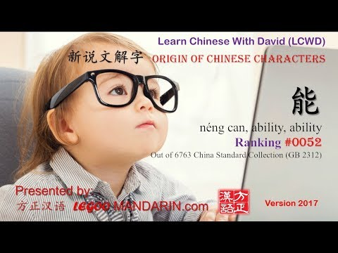 Origin of Chinese Characters - 0052 能 néng can, ability,