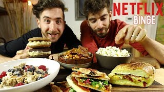 How to Cook For an All Day Netflix Binge... 🍕🍿🍔 by Brothers Green Eats
