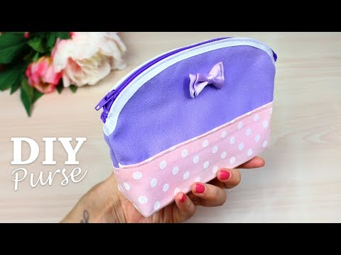 DIY ZIPPER CUTE PURSE BAG TUTORAL // Fashion Woman Pouch