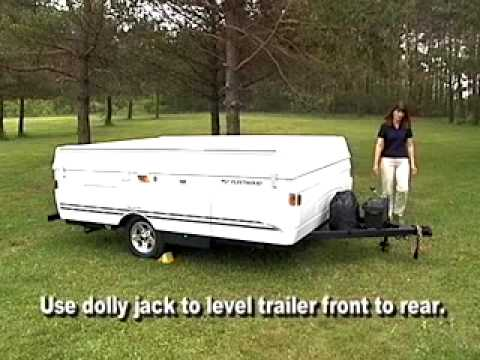 popuptrailer - An instructional video for setting up a folding(pop-up)camper.