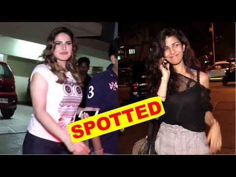 Nimrat Kaur & Zareen Khan Spotted In City