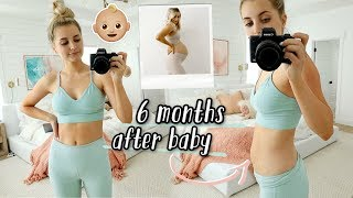 6 month postpartum + body after baby update by Aspyn + Parker