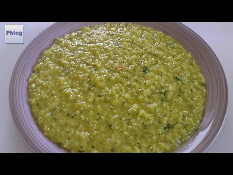 ricetta bimby - risotto alla milanese con zucchine