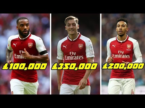 Arsenal Football Players Per Week Salaries 2018