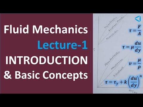 Fluid Mechanics-Lecture-1_Introduction & Basic Concepts (видео)