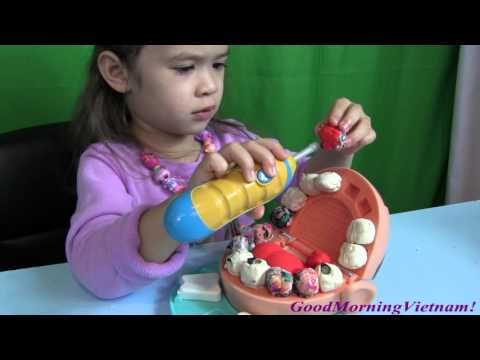 "Bé Peanut Làm Nha Sĩ - Doctor Drill ""N"" Fill Play - Doh Playset By GoodmorningVietnam"