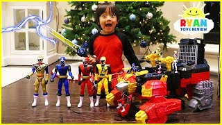 Video Ryan unlocks the Biggest Power Rangers Ninja Steel Surprise Toys Ever!!! MP3, 3GP, MP4, WEBM, AVI, FLV Februari 2019