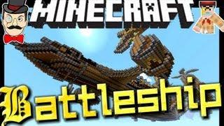 Minecraft STEAMPUNK BATTLESHIP - Amazing Map !