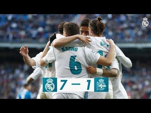 Real Madrid vs Deportivo : 7-1   All Goals & Full Highlights   La Liga 21-01-2017 HD