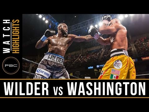 deontay wilder vs gerald washington - highlights