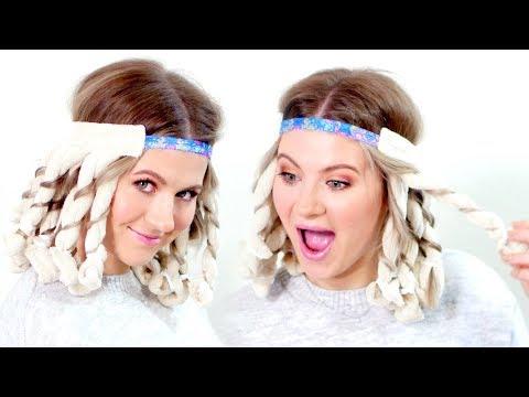 Hairstyles for short hair - 20 Minute Heatless Curls?!  Milabu