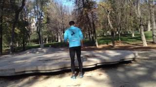 Salto en altura a una pierna