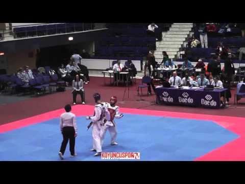 63kg Javier Polo PEREZ (ESP) vs (ISR) ATIAS Ron (-21 European TKD Championships 2015) (видео)