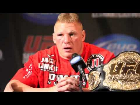 Brock Lesnar UFC 116 PostFight Comments Thanks Ref For Not Stopping It