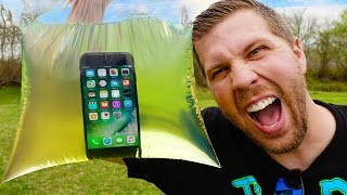Can iPhone 7 Survive 1 Gallon Gasoline Explosion? (WARNING: Epic Explosion!)
