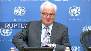 Russian Ambassador to the UN Vitali Churkin is due to hold a press conference in New York on Monday, October 3, as Russia takes over the presidency of the Un...