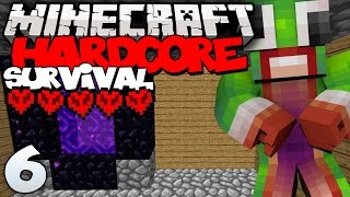 "Minecraft: Hardcore Survival ""NETHER PORTAL!"" 