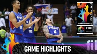 Watch the game highlights as the Philippines record their first World Cup win in 36 years by beating Senegal in a thrilling Group B...