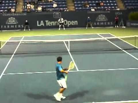 Jim Courier and Michael Chang's great Rally!