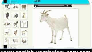 English Vocabulary Farm Animals (http://www.english-vocabulary-easy.com)